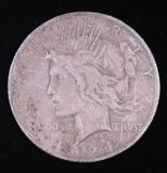 1924 S PEACE SILVER DOLLAR COIN