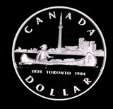 1984 CANADA PROOF SILVER DOLLAR COIN