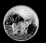 2011 1oz .999 FINE SILVER ROUND CANADA WILDLIFE BEAR