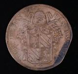1853 ITALIAN PAPEL STATES COPPER COIN