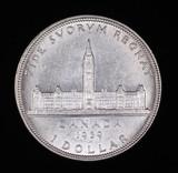 1939 CANADA SILVER DOLLAR COIN GEM BU UNC MS++++