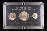 1976 3 COIN BICENTENNIAL COINS WITH CAPITOL PLASTIC HOLDER