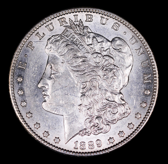 1889 S MORGAN SILVER DOLLAR COIN GEM BU UNC MS+++