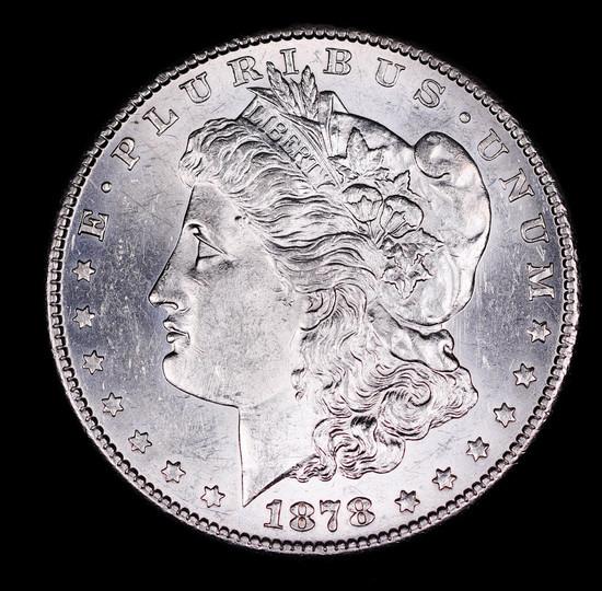 1878 S MORGAN SILVER DOLLAR COIN GEM BU UNC MS+++