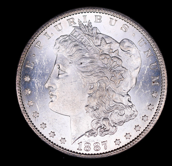 1887 S MORGAN SILVER DOLLAR COIN GEM BU UNC MS+++