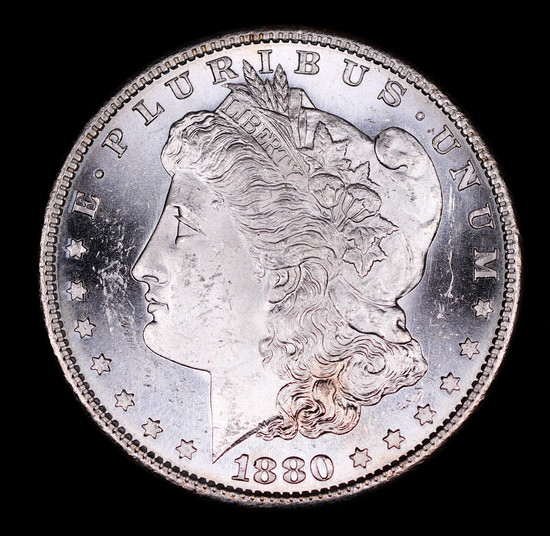 1880 S MORGAN SILVER DOLLAR COIN GEM BU UNC MS+++