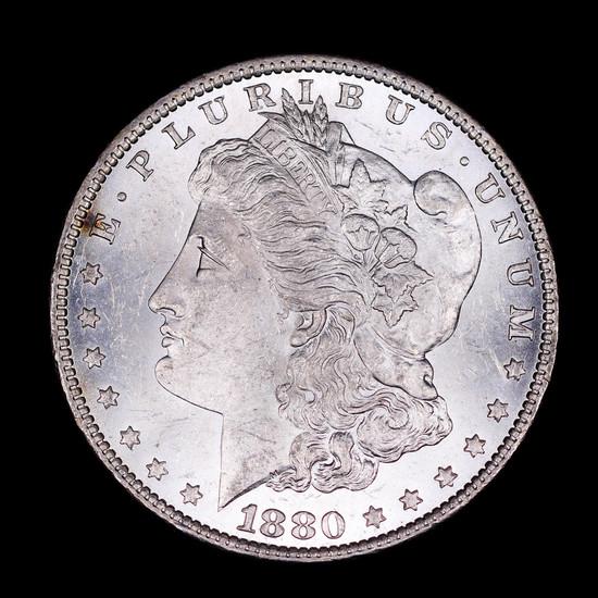 1880 O MORGAN SILVER DOLLAR COIN GEM BU UNC MS+++