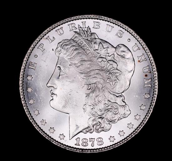 1878 8TF MORGAN SILVER DOLLAR COIN GEM BU UNC MS+++