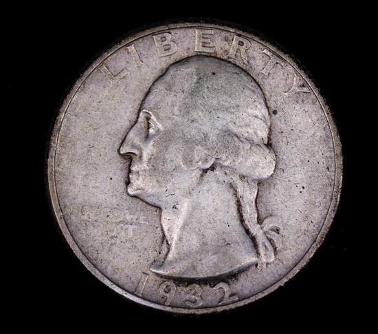 1932 WASHINGTON SILVER QUARTER DOLLAR COIN