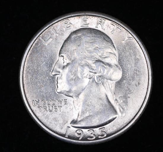 1935 WASHINGTON SILVER QUARTER DOLLAR COIN