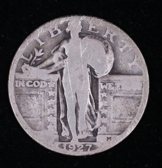 1927 STANDING LIBERTY SILVER QUARTER DOLLAR COIN