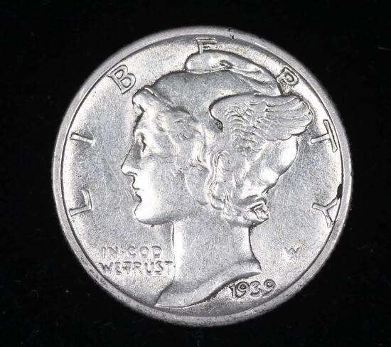 1939 MERCURY SILVER DIME COIN