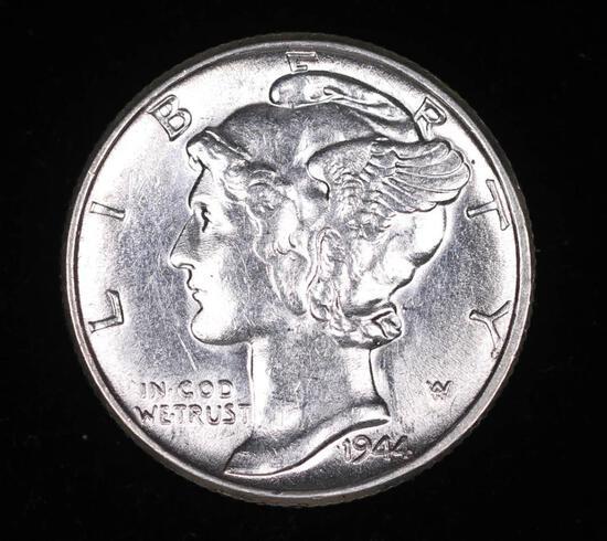 1944 MERCURY SILVER DIME COIN GEM BU UNC MS+++