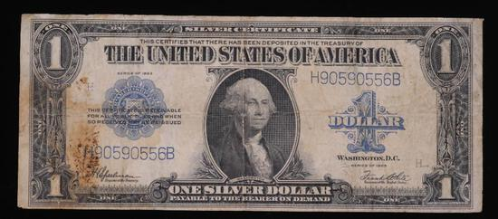 1923 $1 SILVER US CERTIFICATE LARGE SIZE PAPER MONEY NOTE
