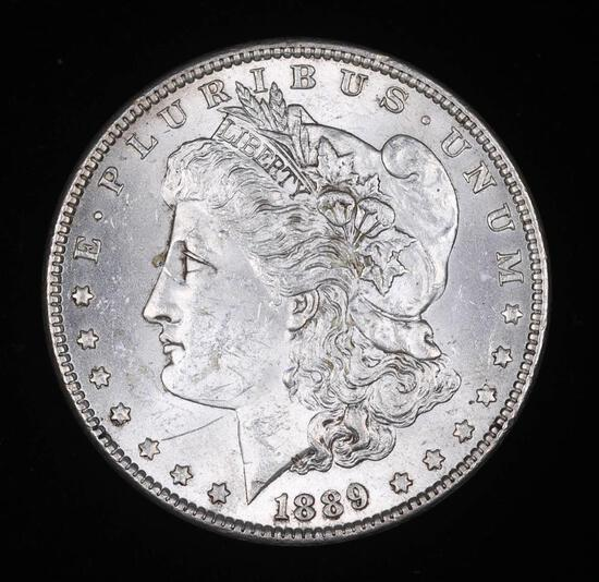 1889 MORGAN SILVER DOLLAR COIN GEM BU UNC MS+++