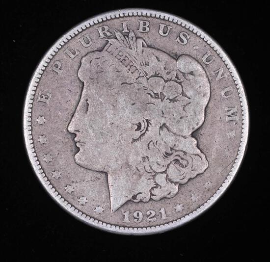 1921 MORGAN SILVER DOLLAR COIN