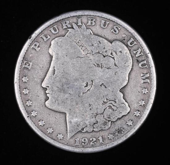 1921 S MORGAN SILVER DOLLAR COIN