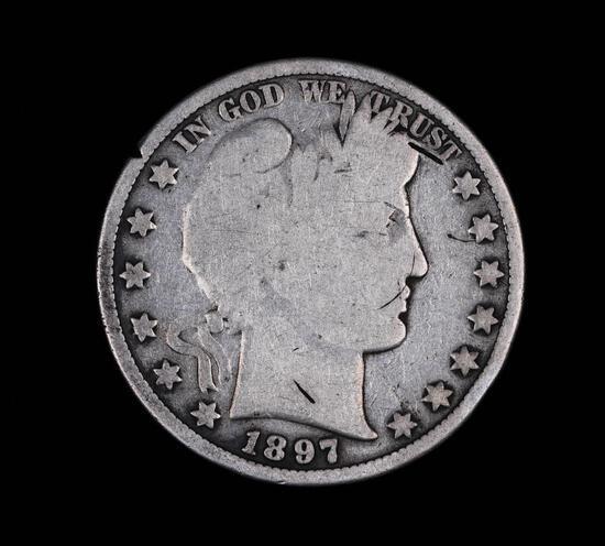 1897 BARBER SILVER HALF DOLLAR COIN