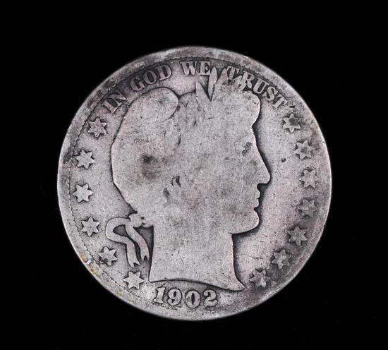 1902 S BARBER SILVER HALF DOLLAR COIN
