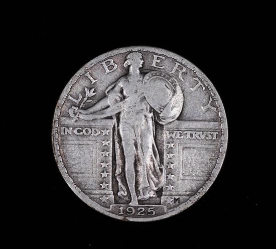 1925 STANDING LIBERTY SILVER QUARTER DOLLAR COIN