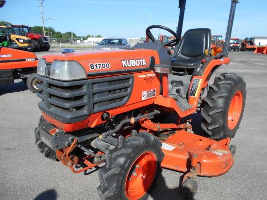 1999 Kubota B1700HD MFD Tractor w/ Mower