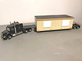 Peterbilt Tractor w/Double Drop Trailer and Building Load