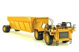Caterpillar 777D w/Dump Trailer - Resin Model