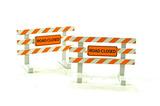 Steel City Class 3 Barricade-Road Closed (Set of 2)