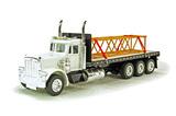 Peterbilt 379 Tri-Axle Flatbed Truck w/Boom Load