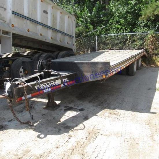 """""""Tow Master 8.5X24ft Pintle Hitch trailer deck is 19ft, 5ft beaver tail"""