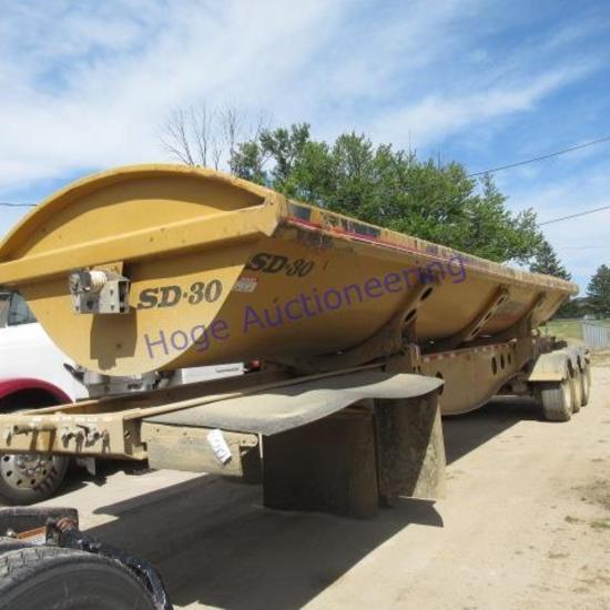 "'07 ""SideDump-R side dump semi trailer 36ft box, triple axle"