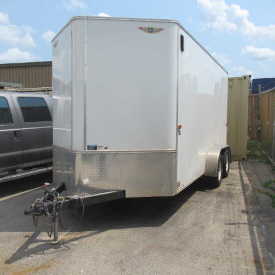 '15 H&H, 7X14ft enclosed trailer, TC142 2 5/16 ball