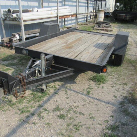 """'94 Redman Homes BH tilt bed trailer registration only, 74""""X12ft"""