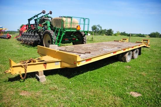 Redi Haul 20 ton flatbed equipment trailer, dual tandem axles, rear ramps (