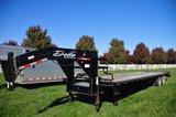 2015 Delta 8'x35' flatbed gooseneck trailer w/ 30' wood floor & 5' steel be