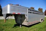 2008 EBY 8'x26' Roughneck Aluminum, tandem axle, Gooseneck Livestock Traile