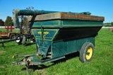 Grain-O-Vator, single axle auger wagon w/ rear self unloading auger