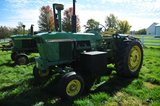 JD 4020, Wide Front, Diesel, 3 pt., dual outlets, rear tire wgts & front mo