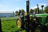 KIWI hyd. Post driver (currently mounted on JD 4020, to sell separately)