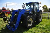 NH T6.165 FWA tractor w/ cab, heat & air, 3-outlets, rear tire wgts, 460/85