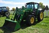 JD 6420 FWA tractor w/ cab heat & air, 18.4R38 rear & 16.9R24 front tires,