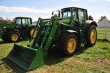 JD 7330 Premium, FWA tractor, w/ cab heat & air, 3-outlets, 480/80R38 rear