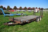 2000 Mac-Lander bumper hitch 16' flatbed, tandem axle trailer w/ dove tail