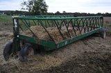 SI pull type steel hay/feeding wagon on single axle & dolly wheels