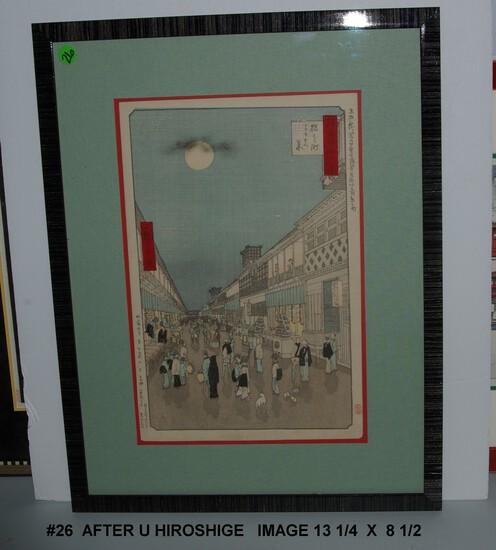 After Utagawa Hiroshige: Senshuzu Edo Yon Juhakkei