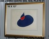 Joan Miro: Cantic del Sol Suite, 21