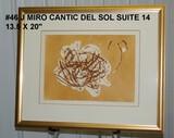 Joan Miro: Cantic del Sol Suite, 14, Stars and Moon