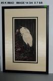 Keinen Imoa: Two Egrets on a Rainy Night