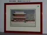Kawase Hasui: Snow at Heian Shrine, Ktoyo and Bonus Print