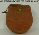 African Leather Pot